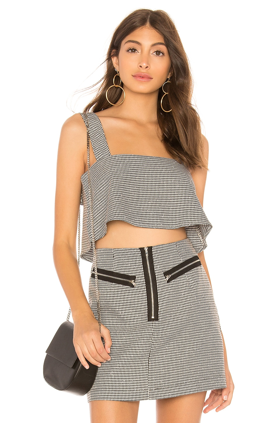 by the way. Emily Crop Top in Black & White