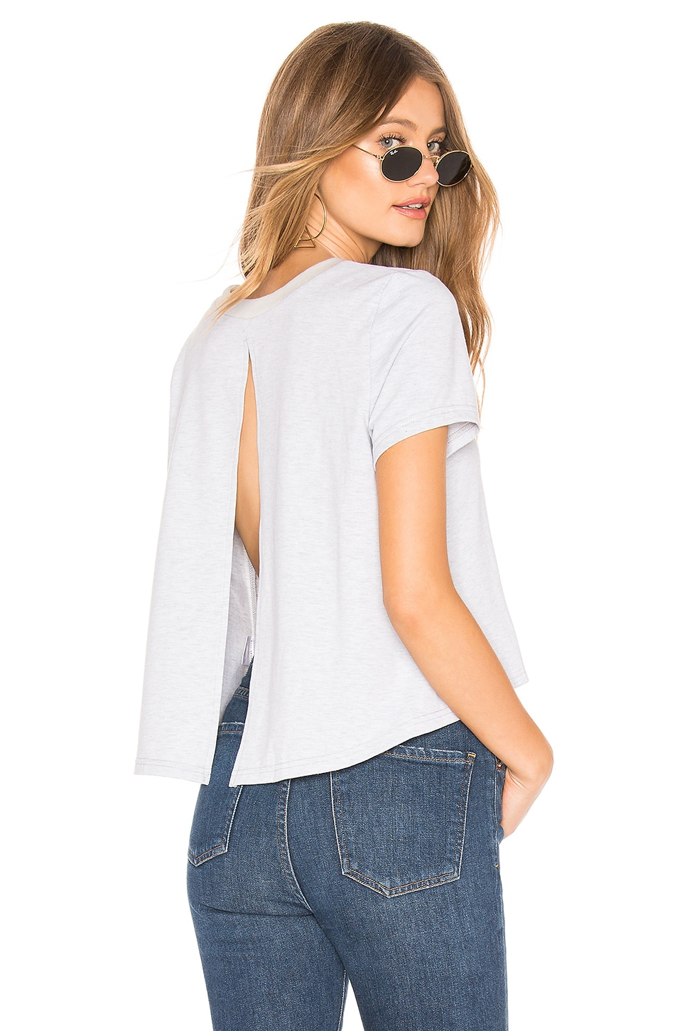 by the way. Piper Open Back Top in Grey