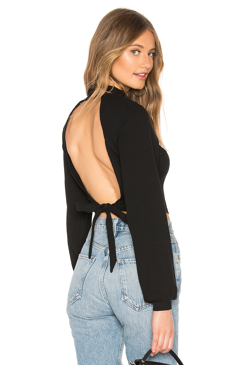 by the way. Aida Open Back Top in Black