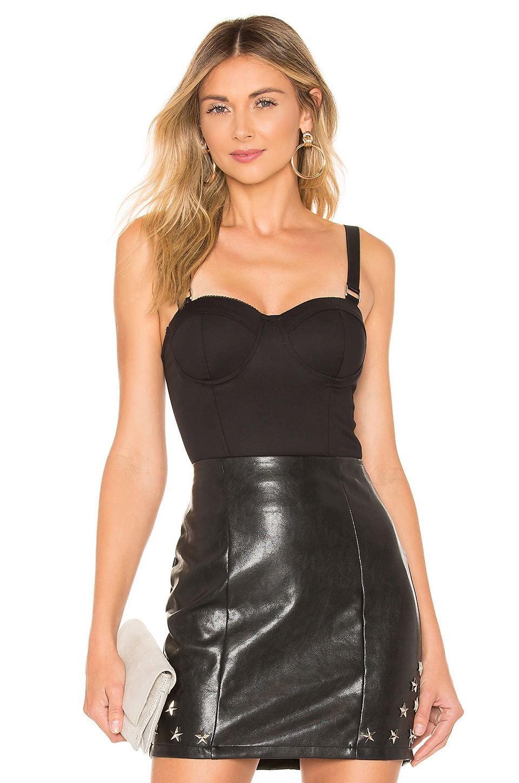 superdown Savanah Corset Bodysuit in Black