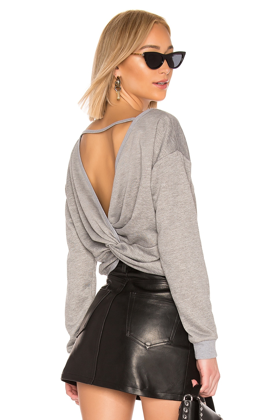 by the way. Odessa Twist Back Top in Heather Grey