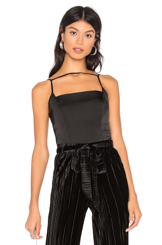 by the way. Hadley Strappy Bodysuit in Black