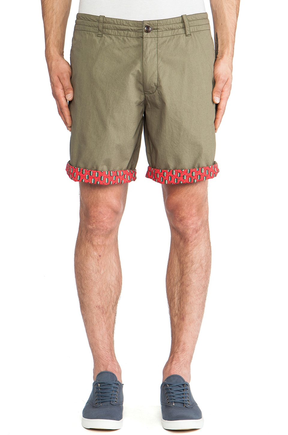 Burkman Bros. Drawcord Short in Martini & Olive
