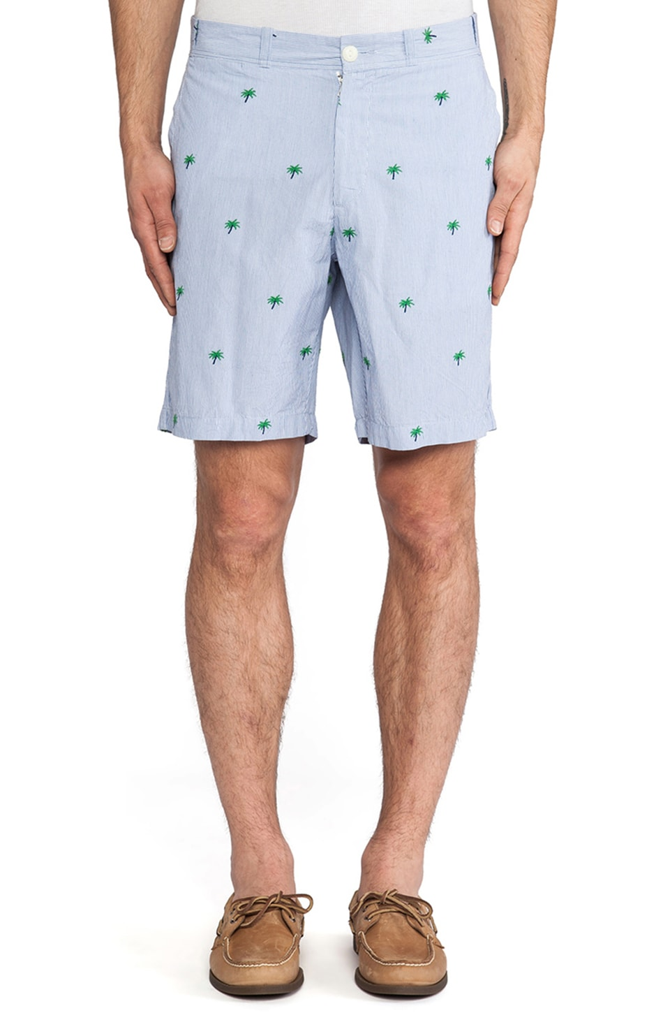 Burkman Bros. Drawcord Short in Stripe & Palm