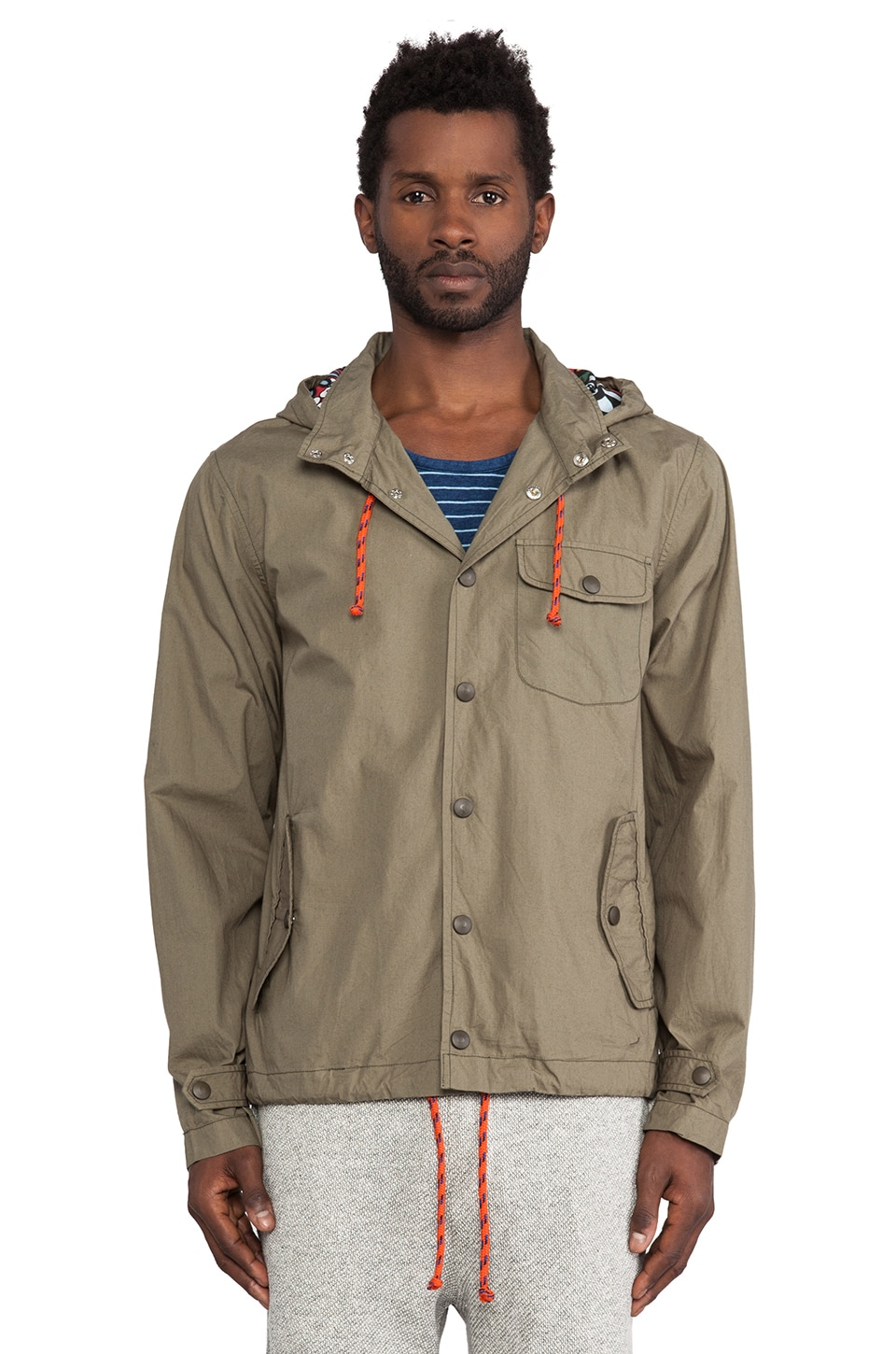 Burkman Bros. Snap Front Jacket in Olive