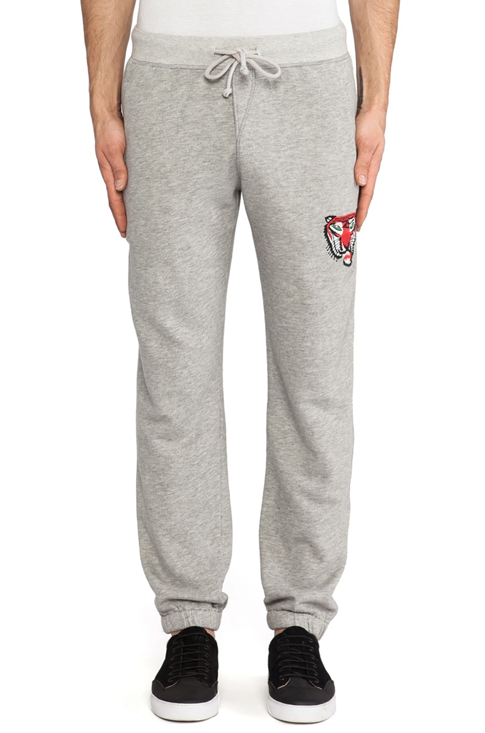 Burkman Bros. Fleece Pant in Heather Grey