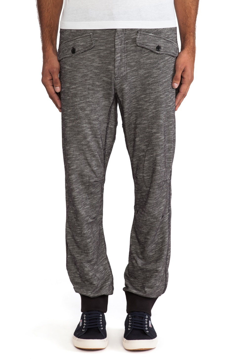 Burkman Bros. Cozy Athletic Pant in Black