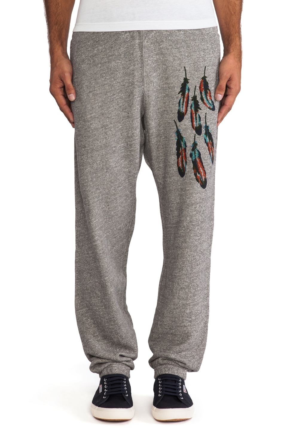 Burkman Bros. Feathers Fleece Pant in Grey Heather