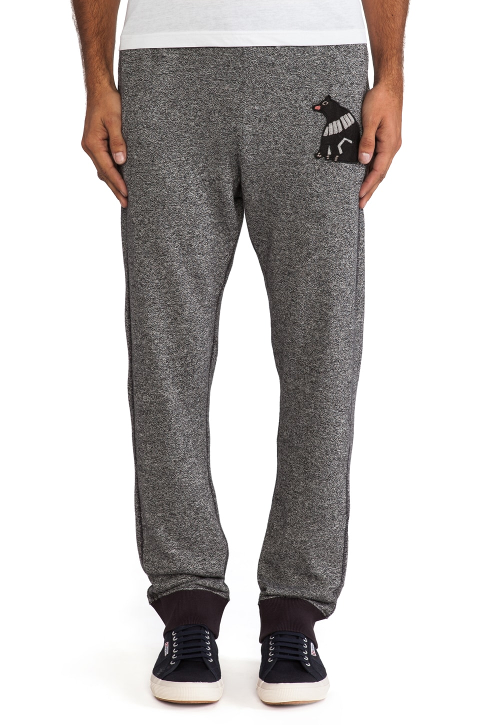 Burkman Bros. Bear Sweatpant in Grey