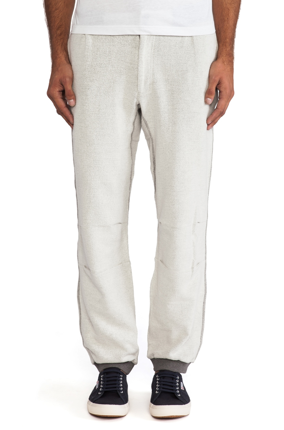 Burkman Bros. Cozy Athletic Pant in Natural