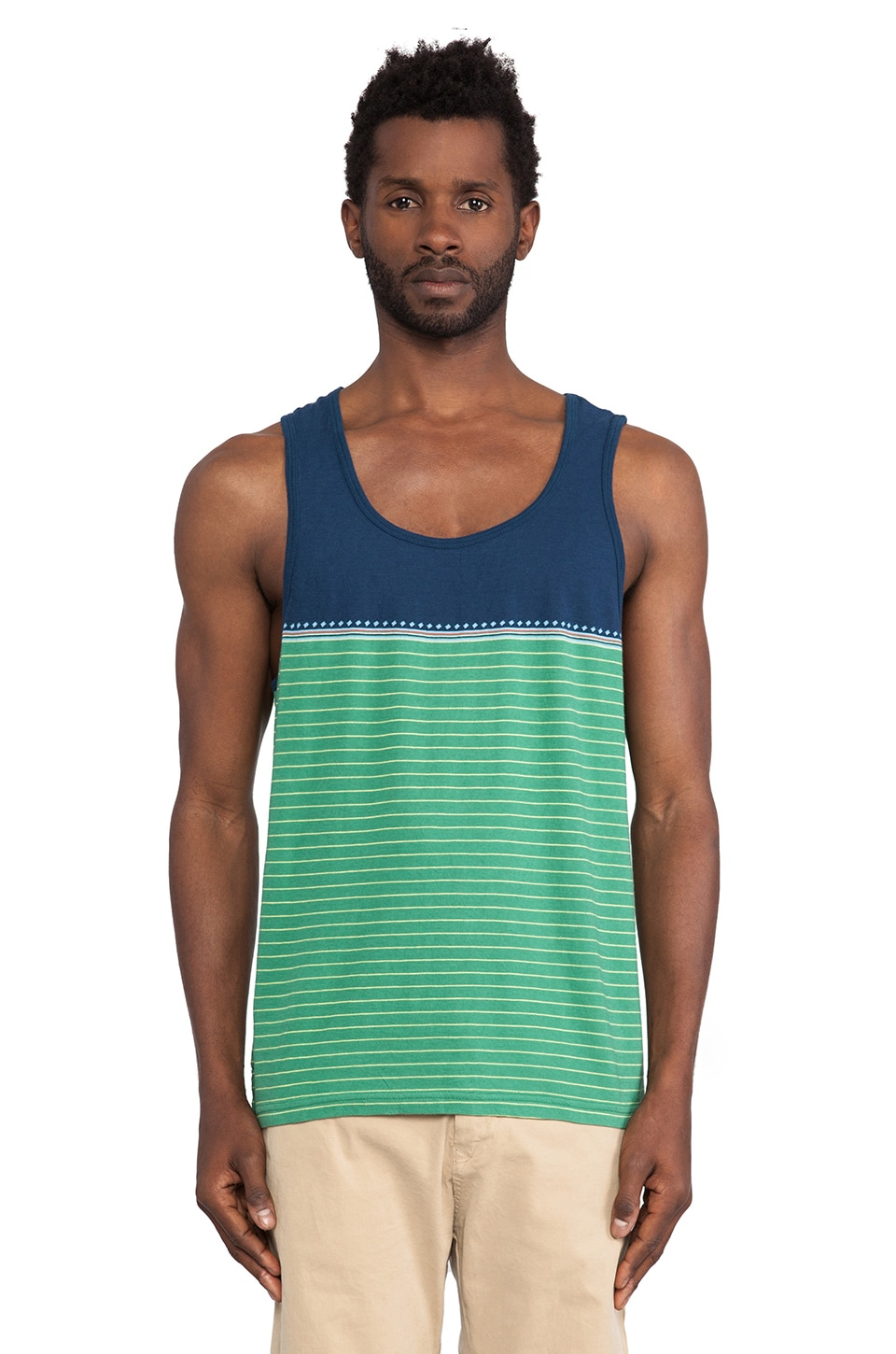 Burkman Bros. Tank Top in Blue & Green