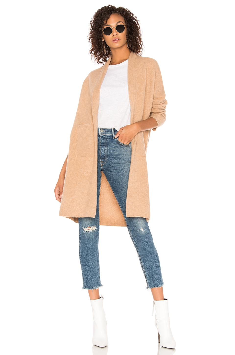 BROWN ALLAN The Long Felted Duster in Tan