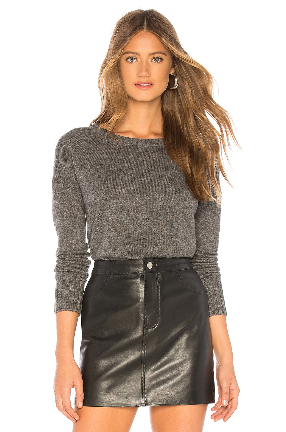 SWTR The Cropped Crew Sweater in Night Mist