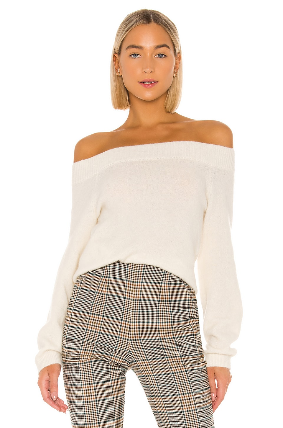 SWTR Cozy Off Shoulder Sweater in Ivory