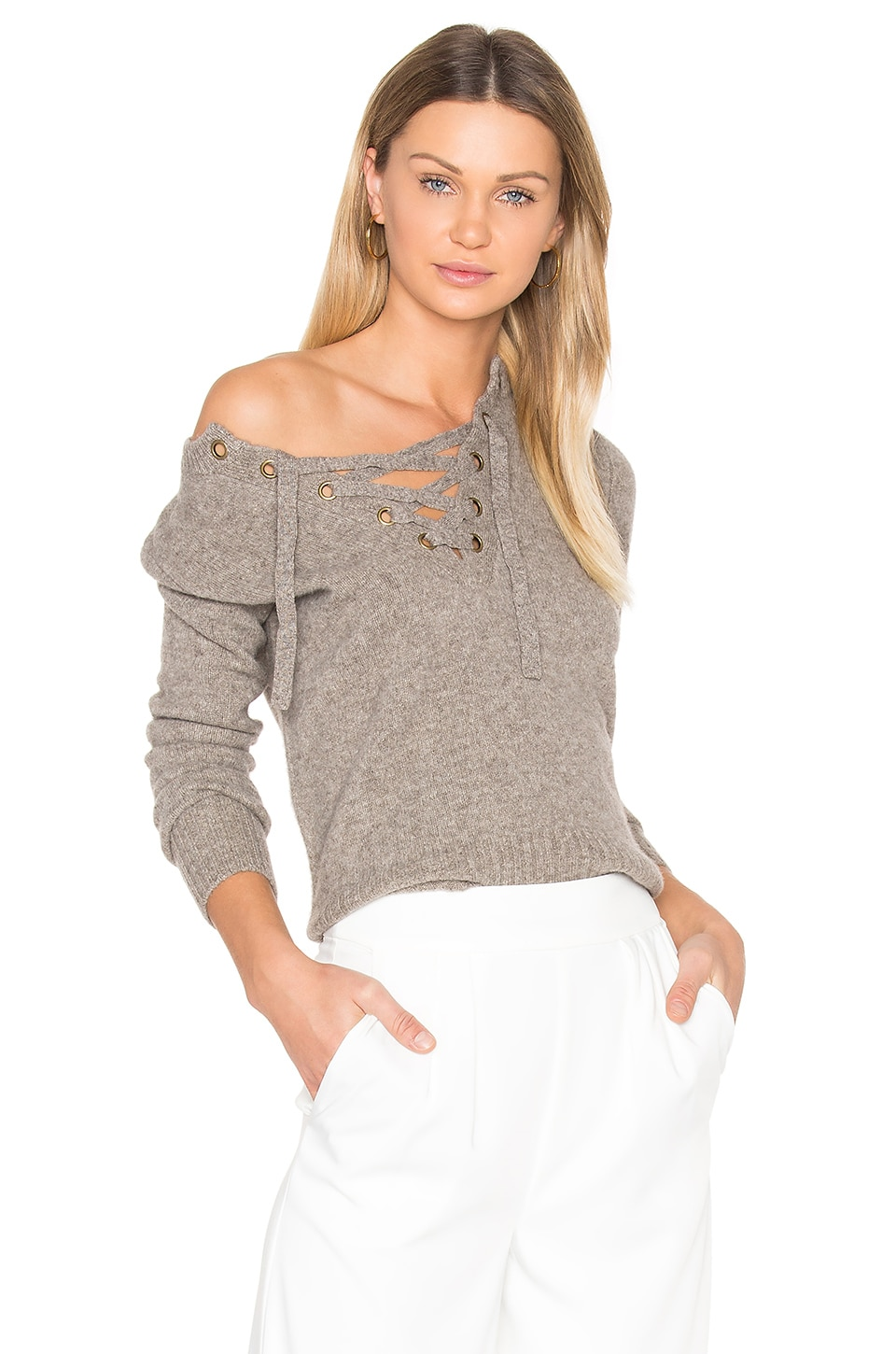 Lace Up Sweater by BROWN ALLAN