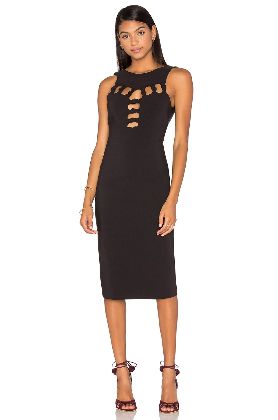 Open Knot Front Dress by By Johnny