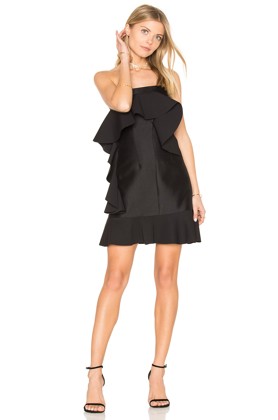 Tess Angel Frill Mini Dress by By Johnny
