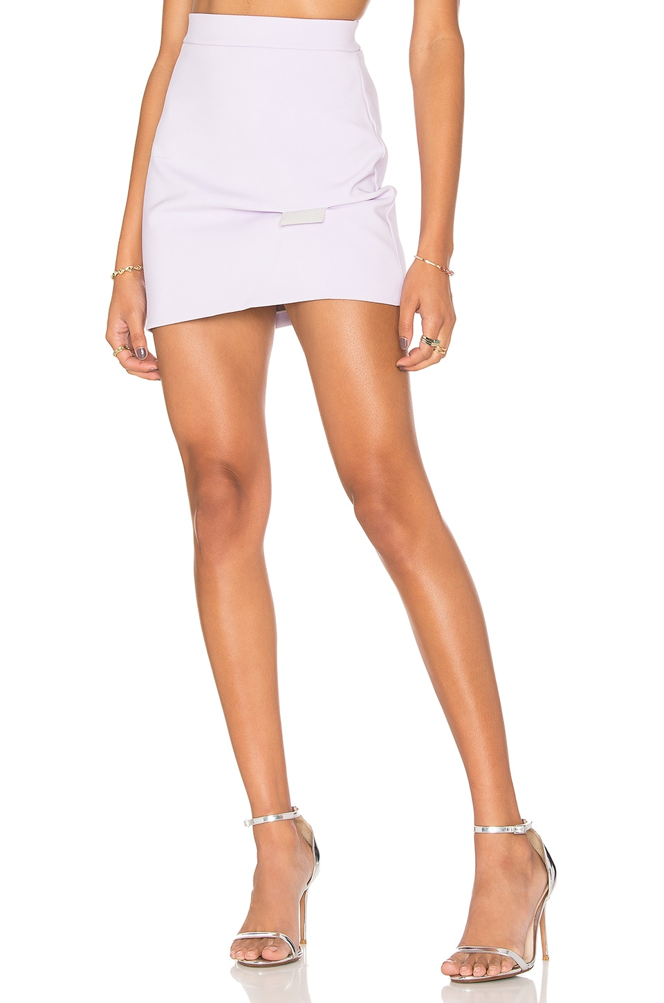 Lilac Fold Mini Skirt by By Johnny