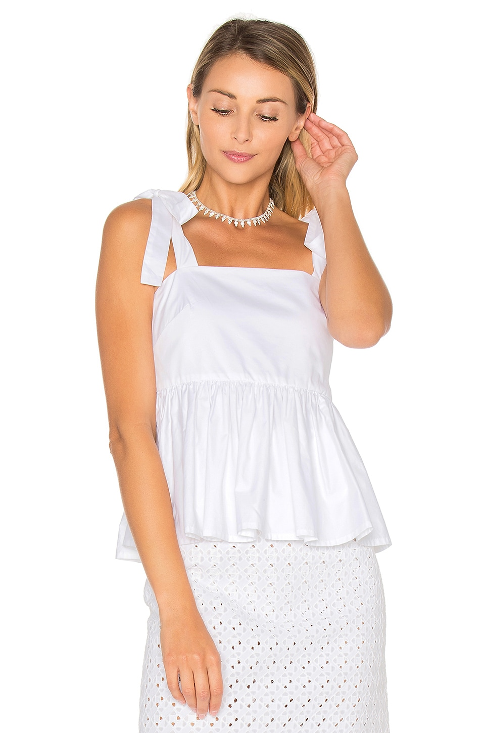 Tie Strap Frill Camisole by By Johnny