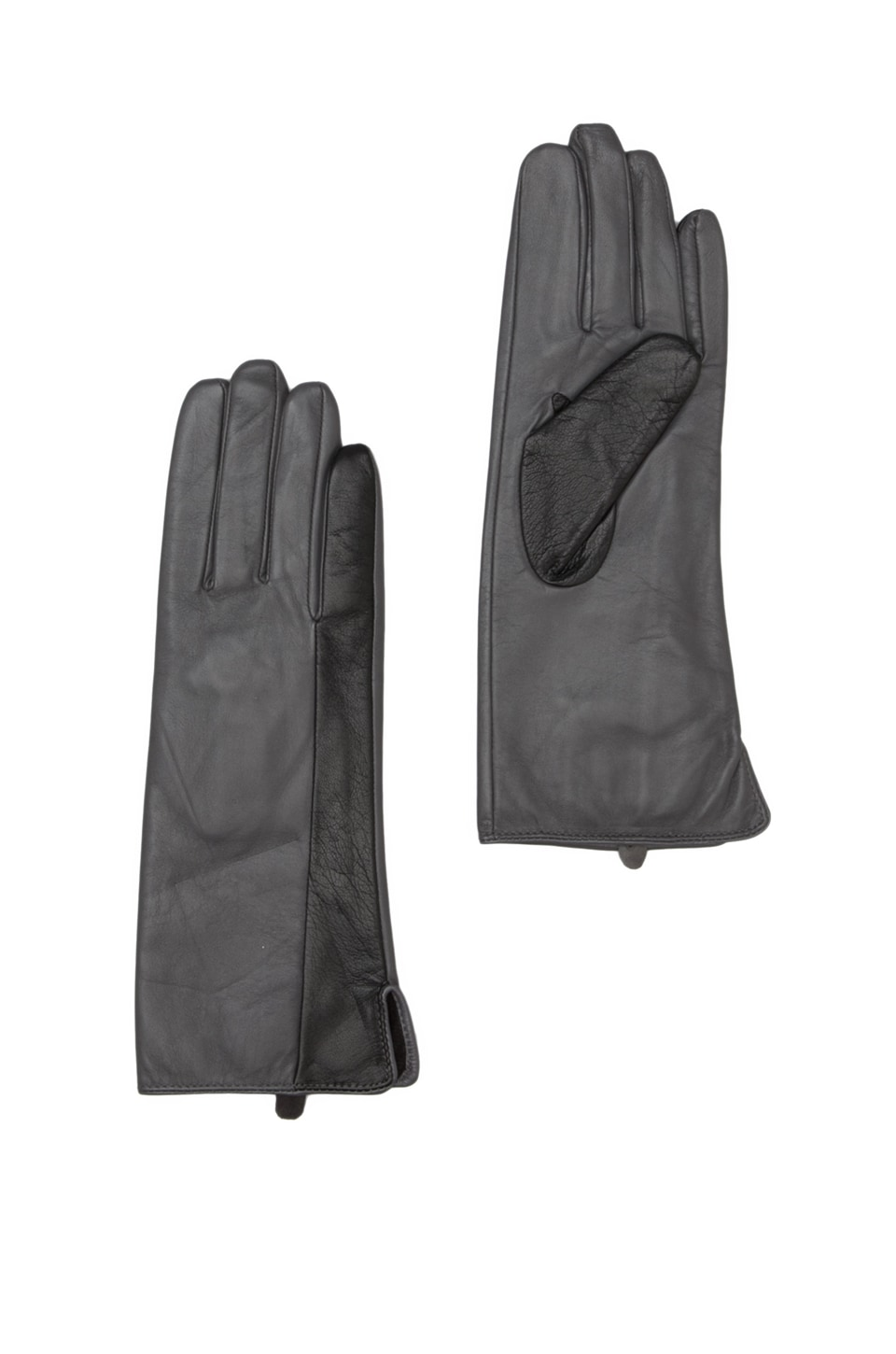 By Malene Birger Modern Woman Ballay Gloves in Dark Grey