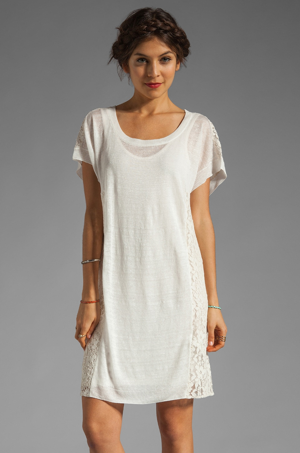 By Malene Birger Summer Item Midall Dress in Pure White and Cream