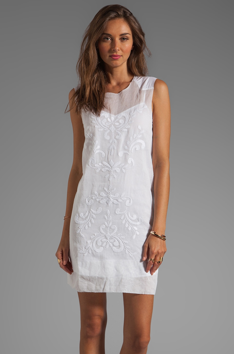 By Malene Birger Cotton Organdi Hedda Dress in Pure White