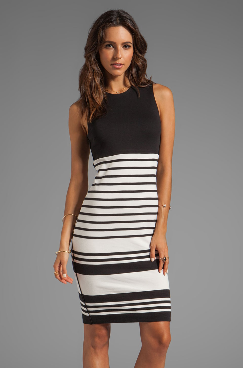 By Malene Birger Wide Stripe Sello Dress in Black