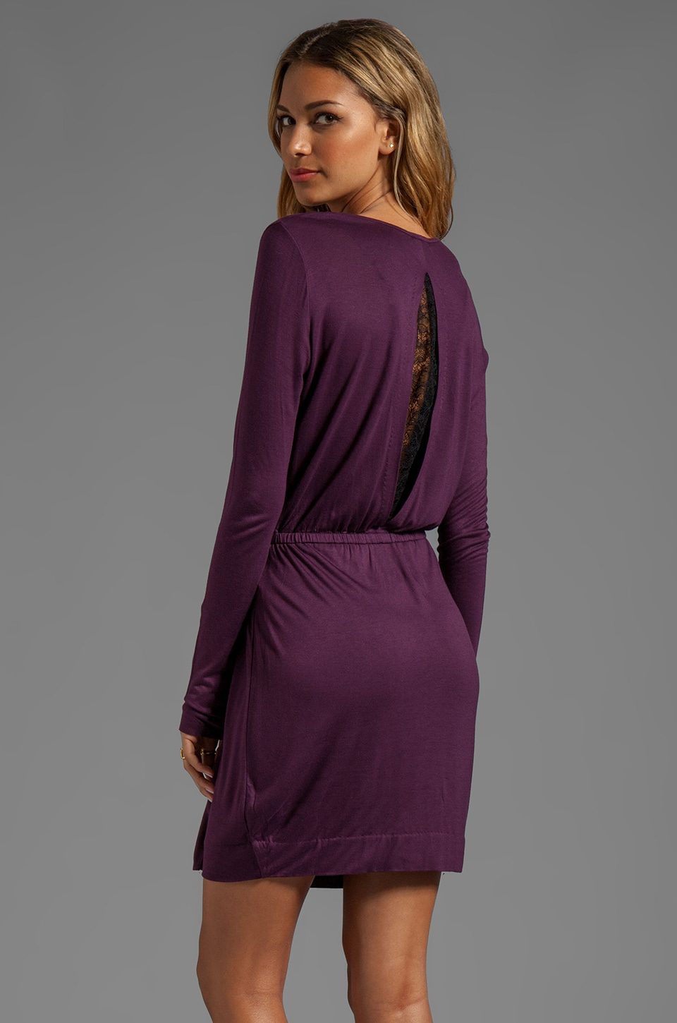By Malene Birger Viscose Jersey Fina Dress in Italian Plum