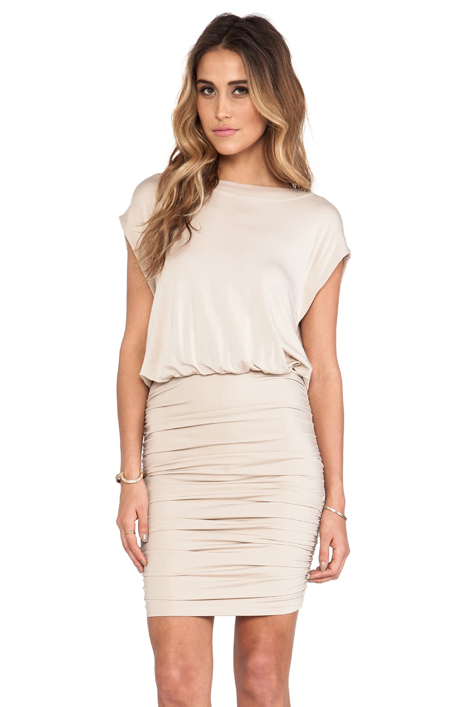 By Malene Birger Smooth Interlock Drepyh Dress in Cafe au Lait