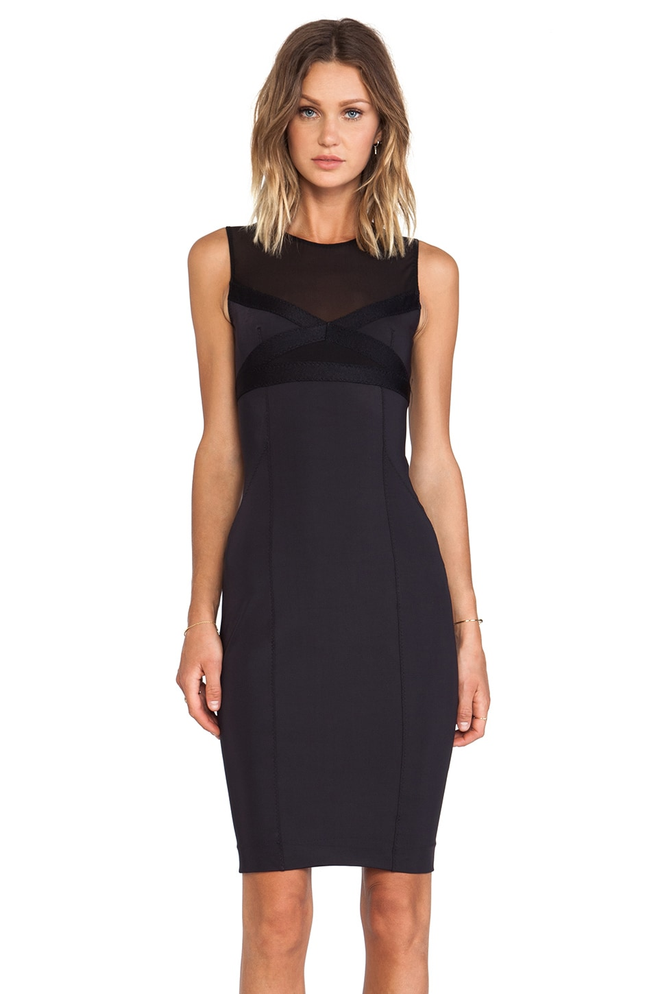 By Malene Birger Wastano Smooth Interlock Dress in Black