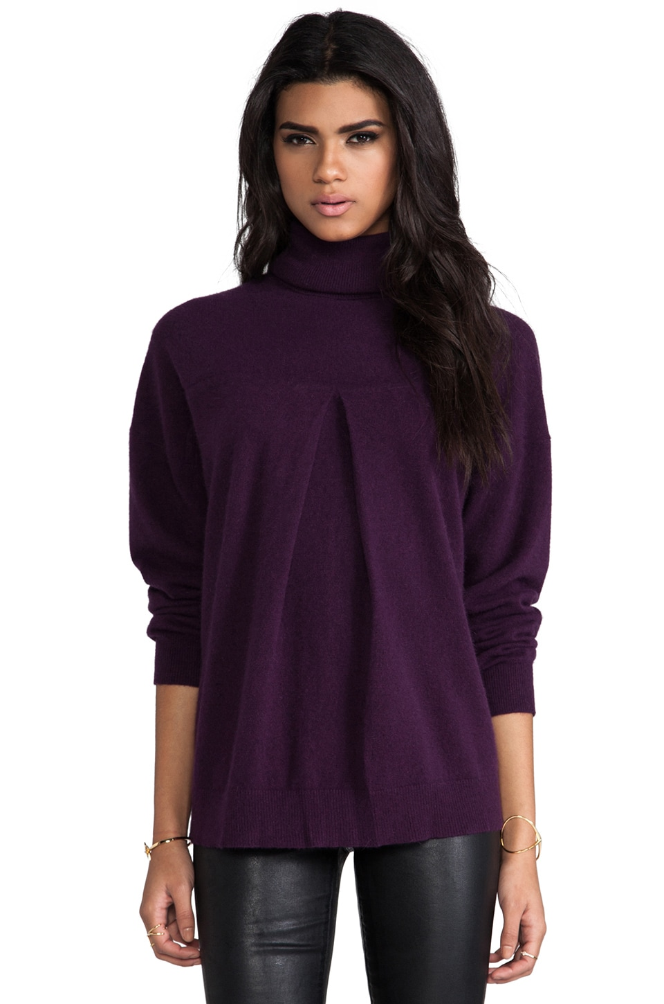 By Malene Birger Can You Feel It Silvano Sweater in Italian Plum