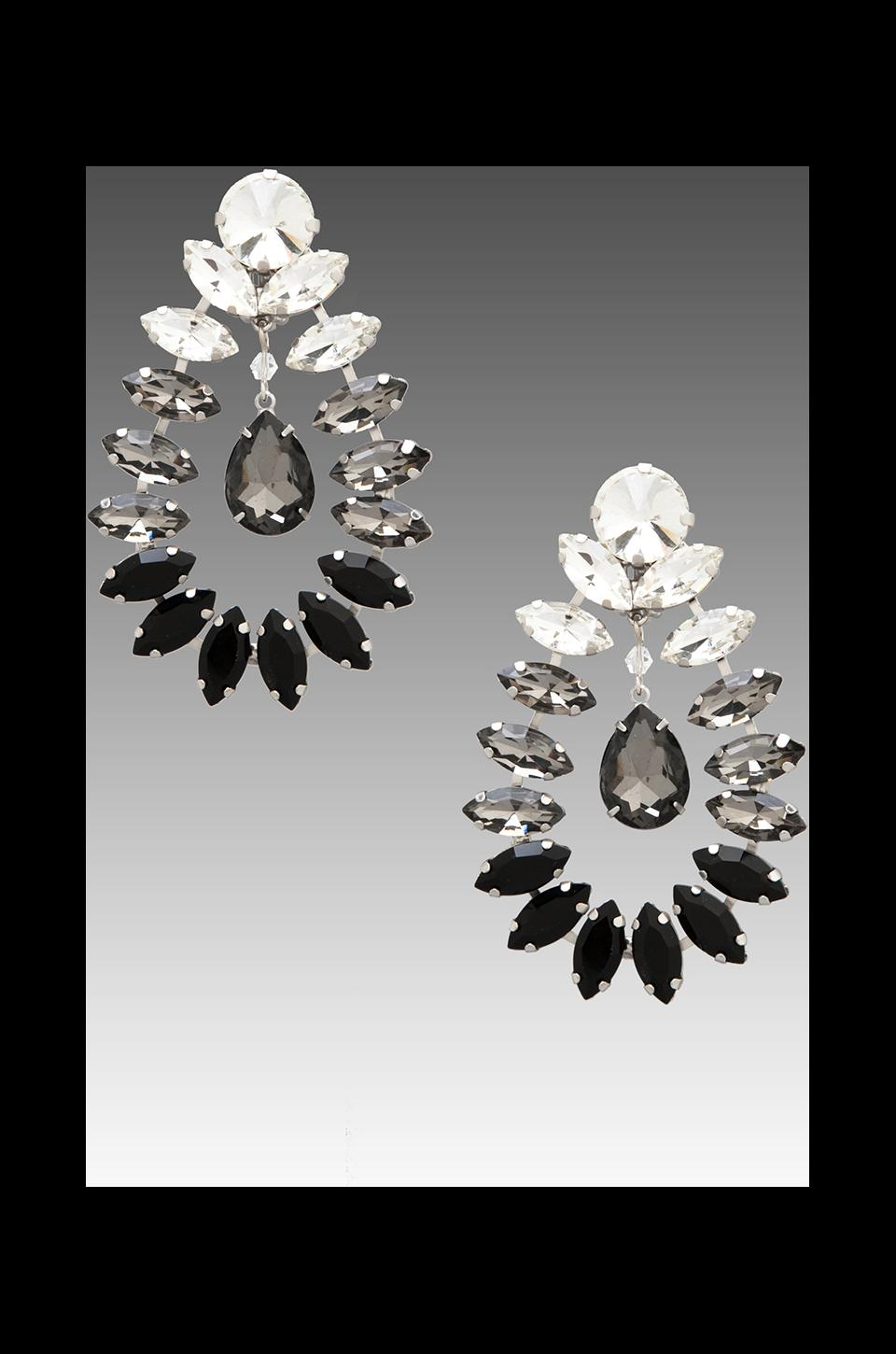 By Malene Birger Moon and Stars Risina Earrings in Transparent