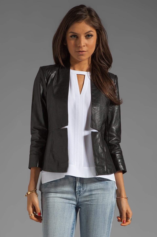 By Malene Birger Luxurious Leather Blazer in Black
