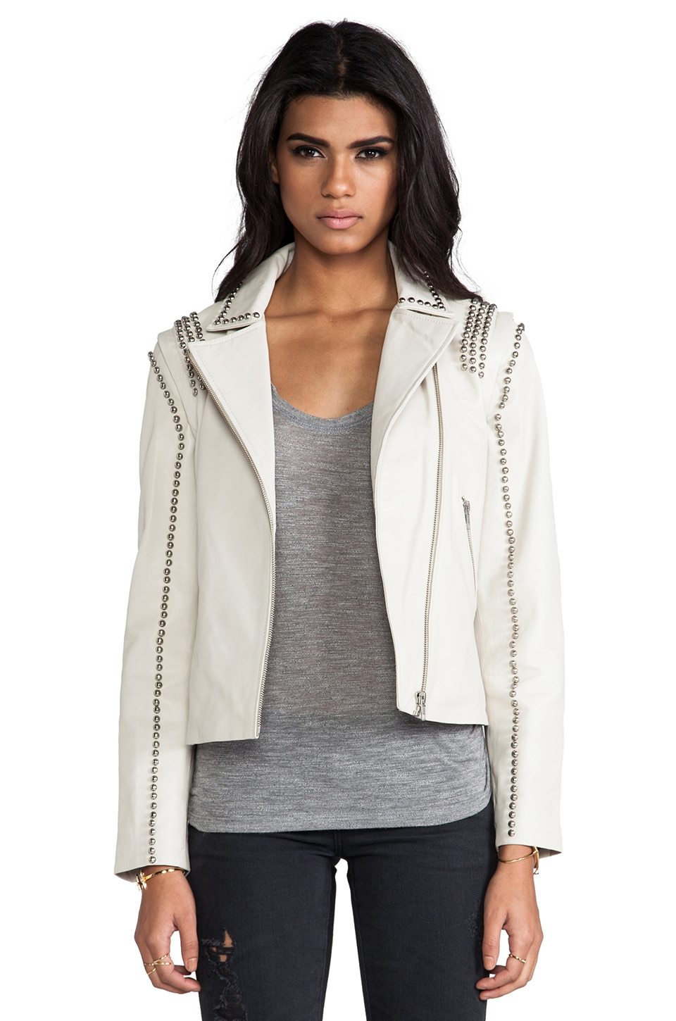 By Malene Birger Luxurious Leather Naroa Jacket in Cream