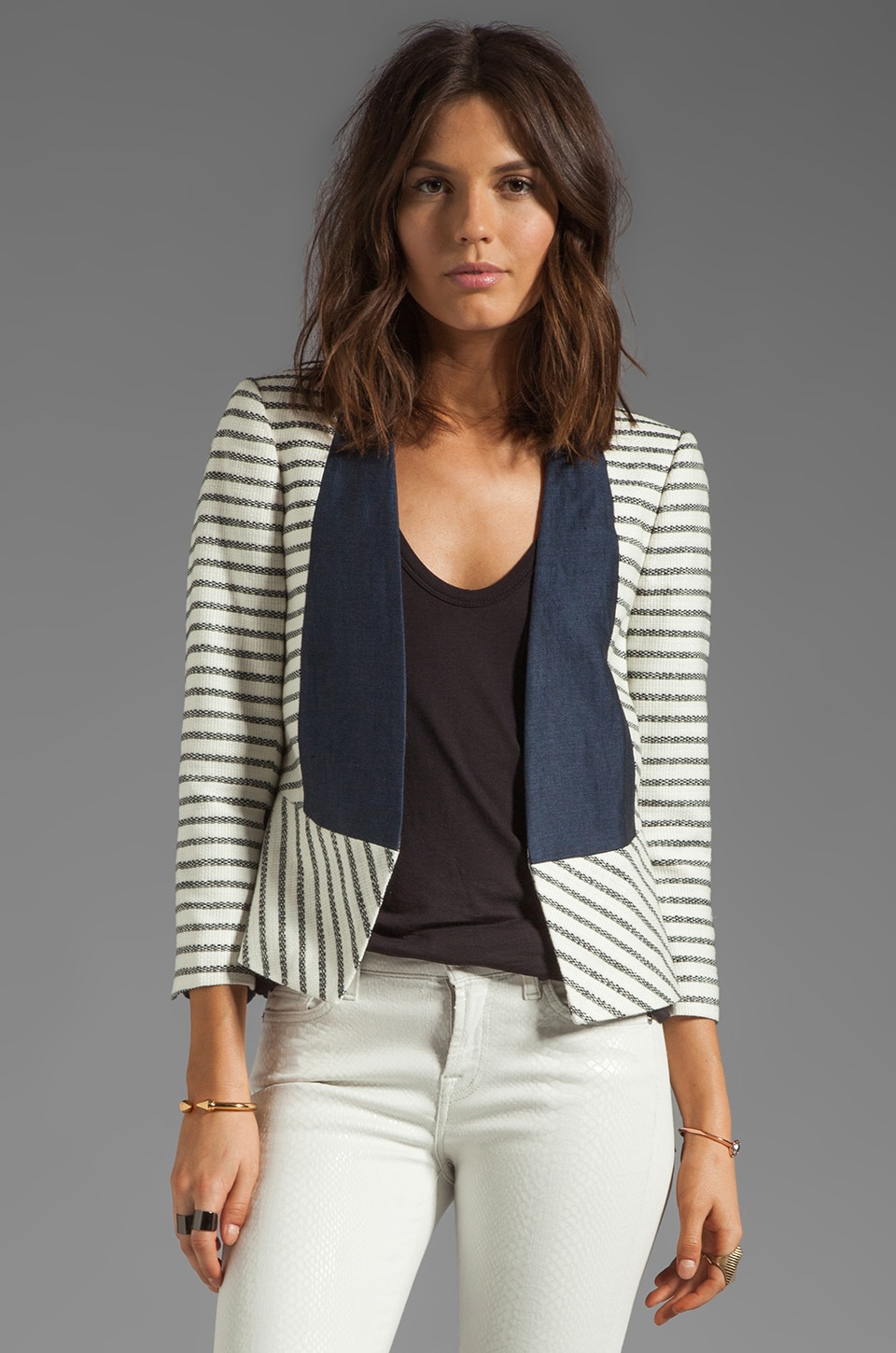 By Malene Birger New Looks Etioloa Blazer in Cream/Black