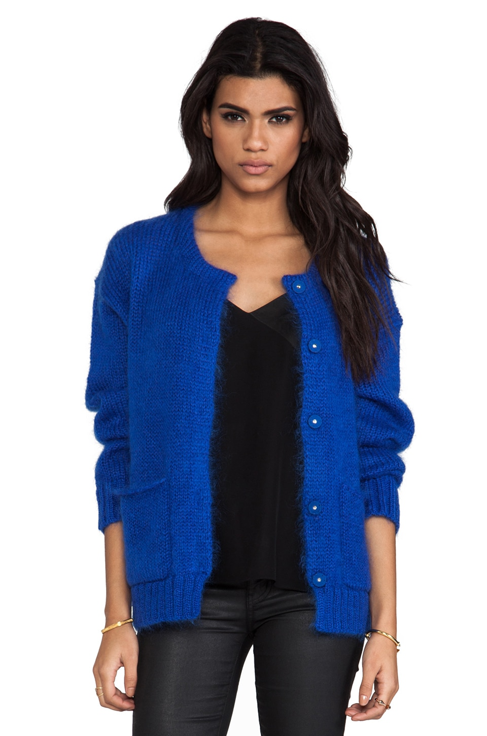 By Malene Birger Supersoft Mohair Clarice Jacket in Cobolt