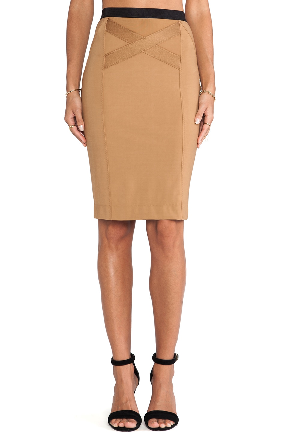 By Malene Birger Magiala Smooth Interlock Skirt in Red Earth