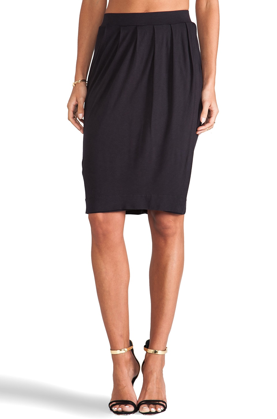 By Malene Birger Viscose Jersey Elga Skirt in Black