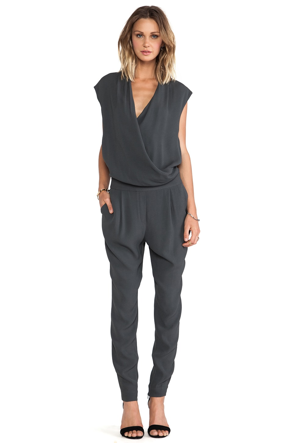 By Malene Birger Cointa Fresh Look Jumpsuit in Charcoal