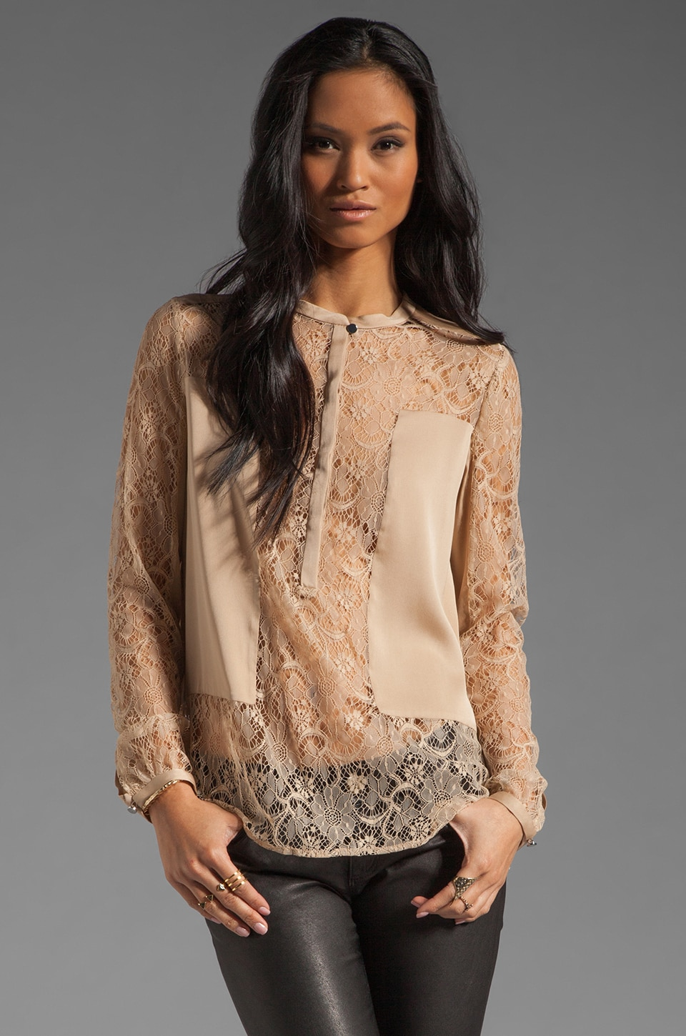 By Malene Birger Soft Delight Moorem Top in Champagne