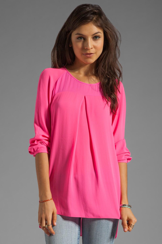 By Malene Birger Modern Elegance Maevac Blouse in Neon Pink