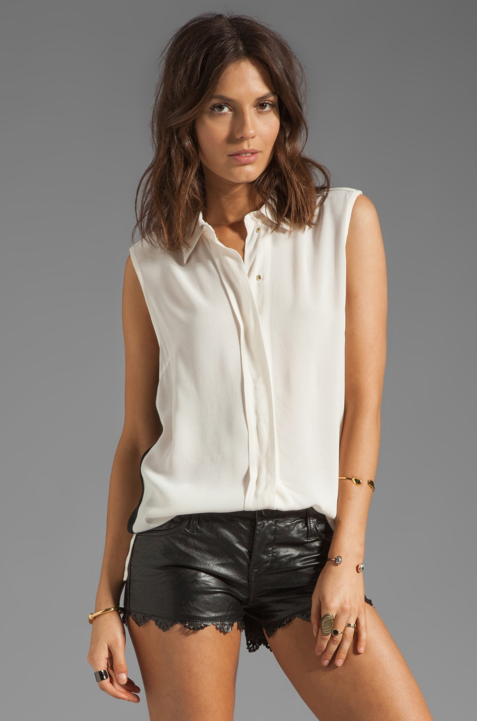 By Malene Birger Getting Ready Marciam Sleeveless Blouse in Cream