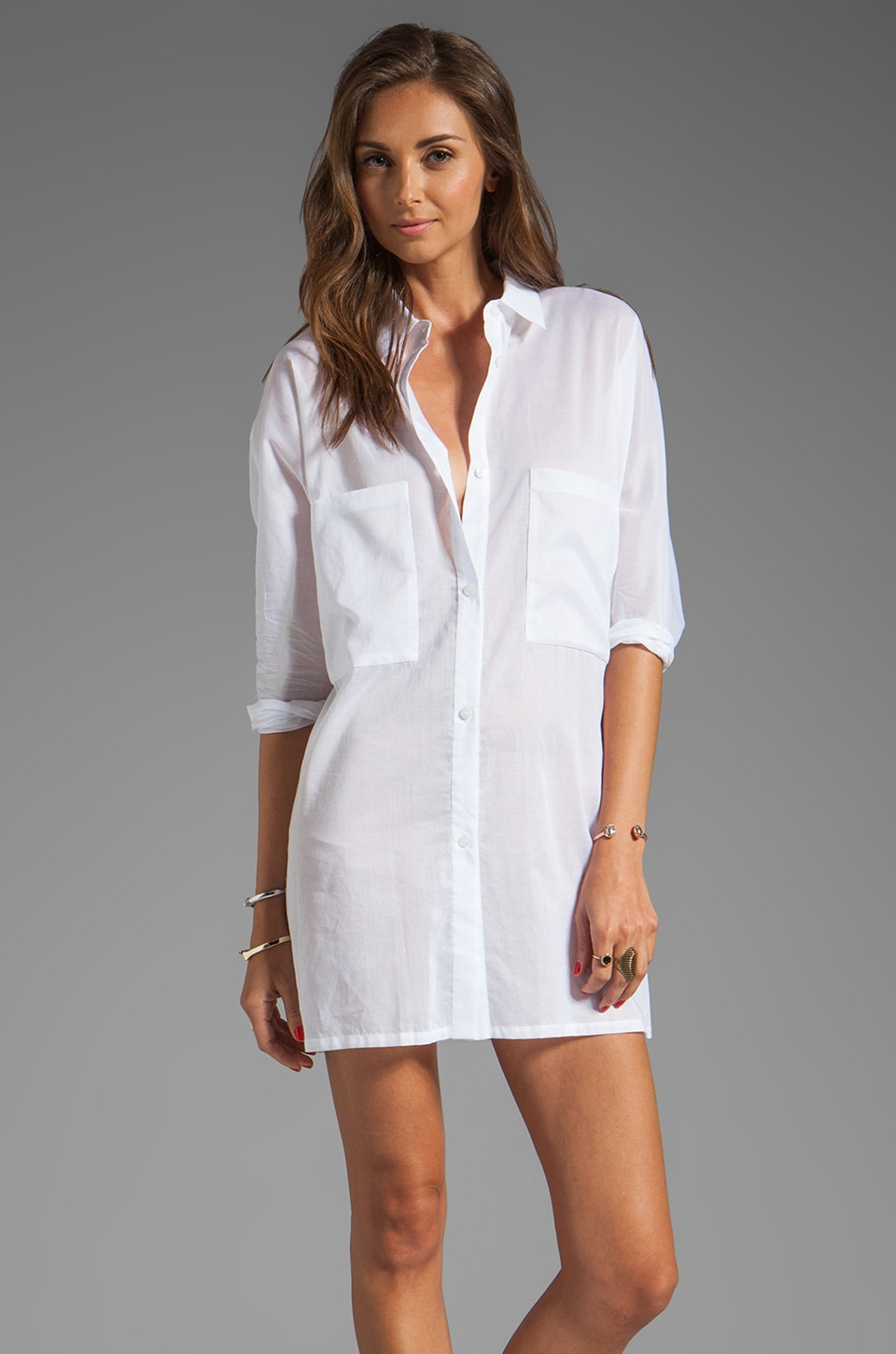 By Malene Birger Cotton Vibe Gereldine Tunic in Pure White
