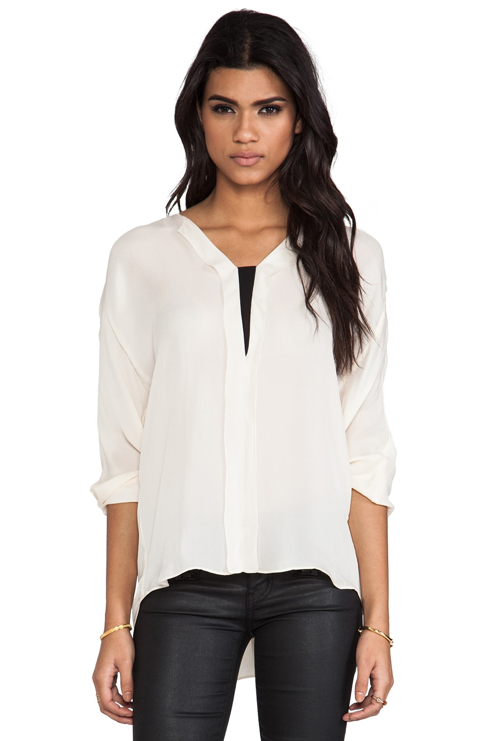 By Malene Birger Drapy Touch Emeka Blouse in Cream