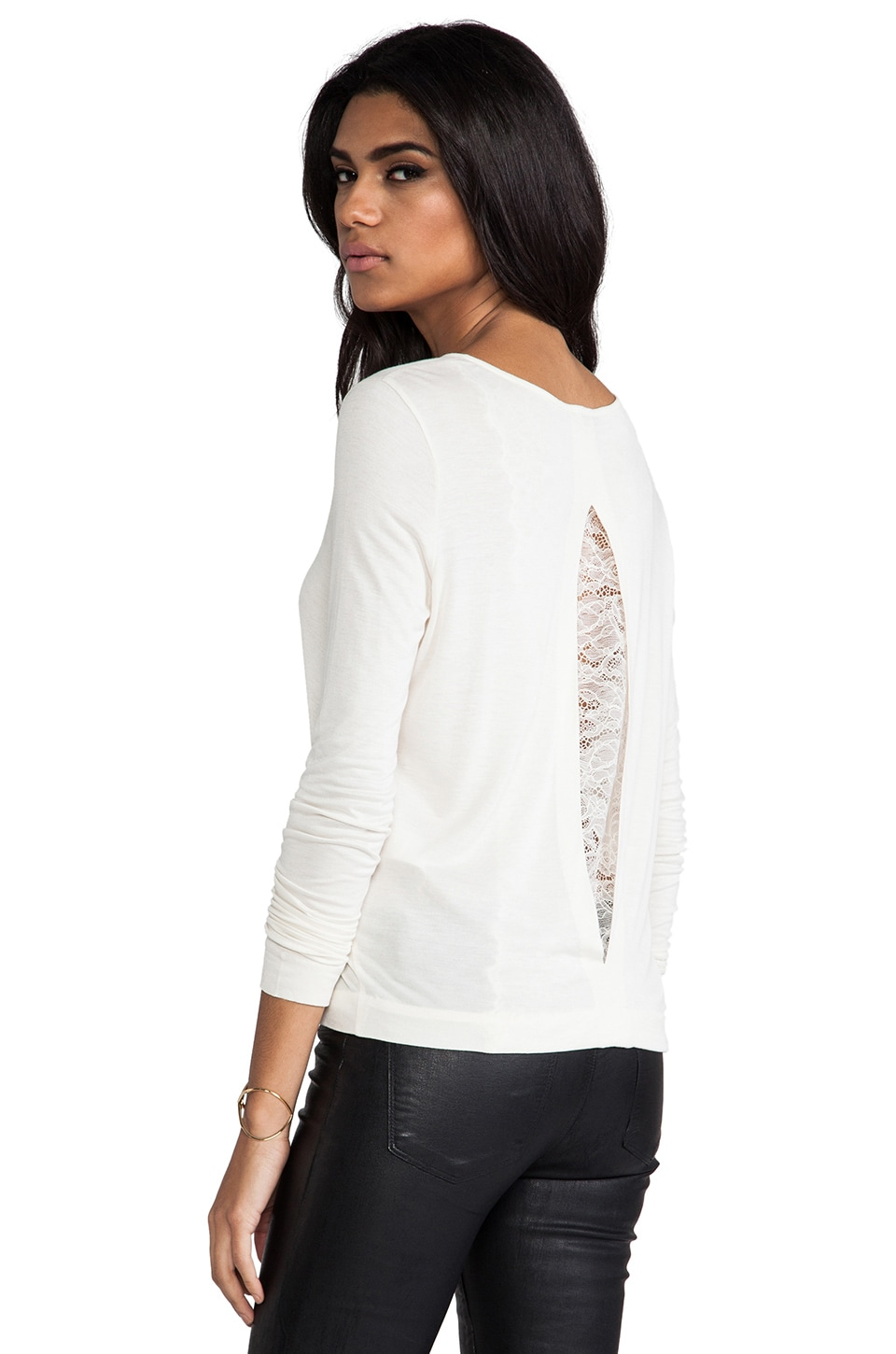By Malene Birger Viscose Jersey Ciallo Top in Cream