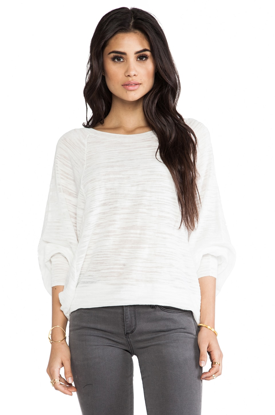 By Malene Birger Uneven Threads Nema Top in Pure White