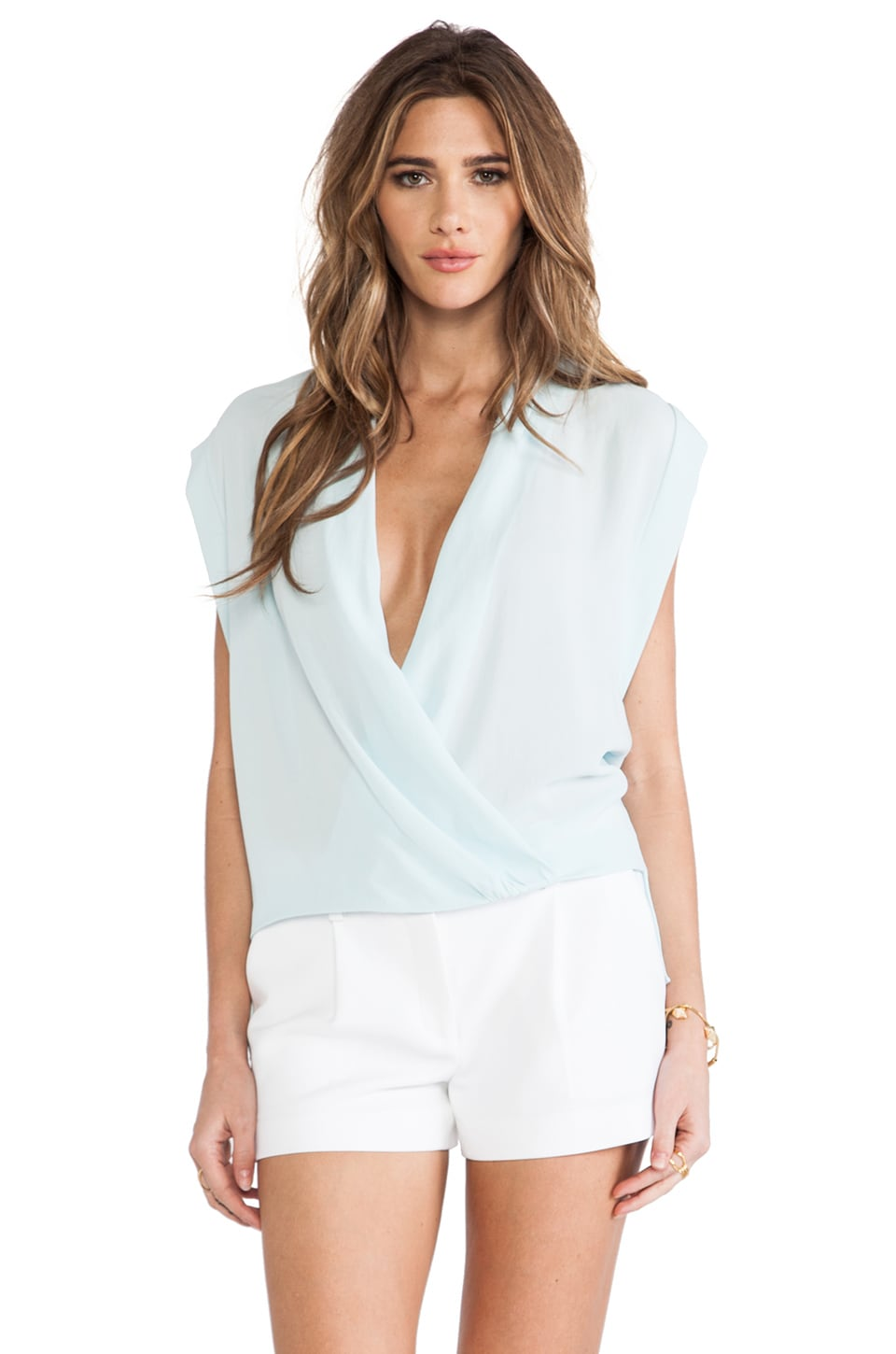 By Malene Birger Pipana Top in Light Aqua