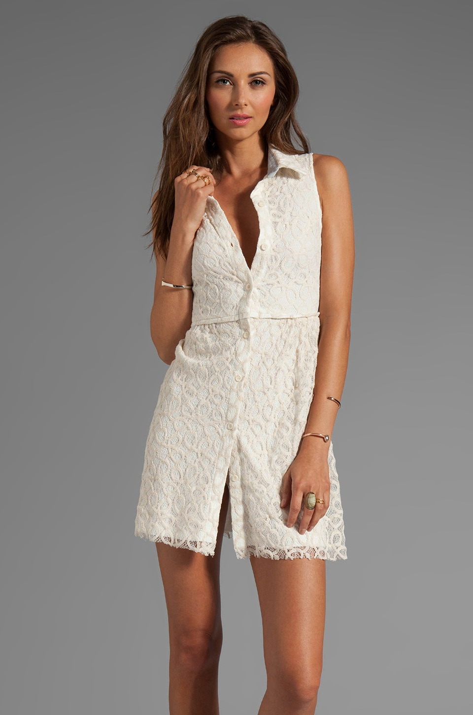 BY ZOE Nell Lace Dress in Off White
