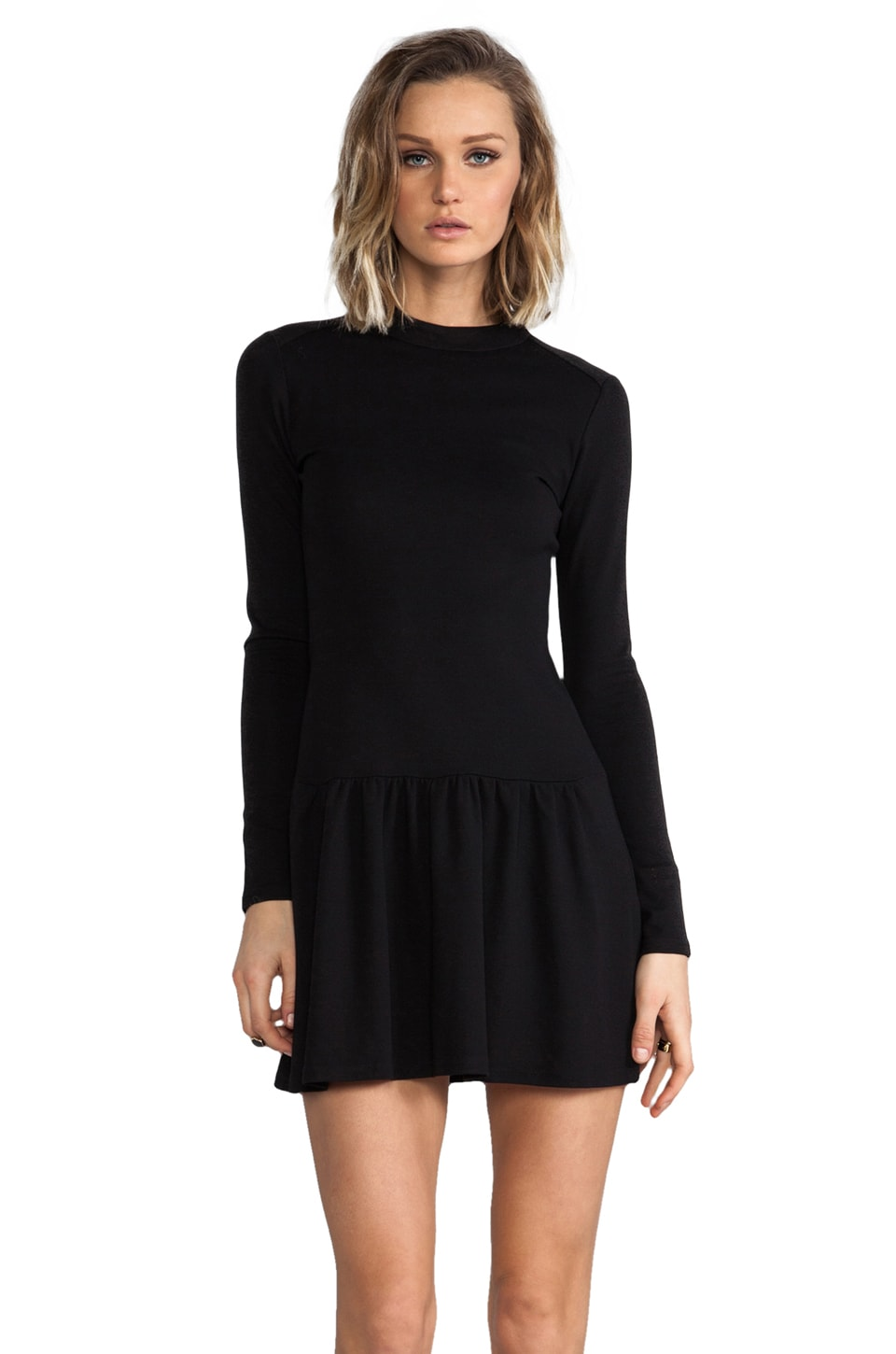 BY ZOE Cala Drop Waist Dress in Black