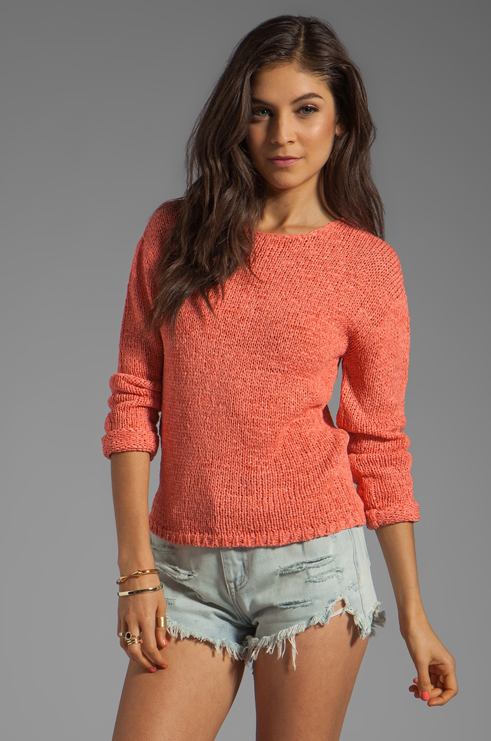 BY ZOE Image Sweater in Orange